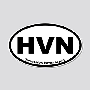 Tweed-New Haven Airport 20x12 Oval Wall Peel