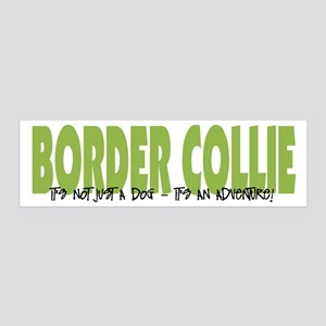 Border Collie ADVENTURE 36x11 Wall Peel