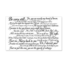 Edward Cullen Quotes 20x12 Wall Peel