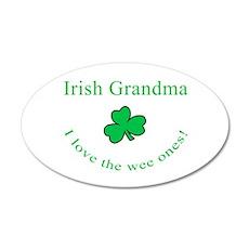 Irish Grandma 20x12 Oval Wall Peel