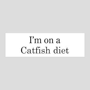 Catfish diet 36x11 Wall Peel
