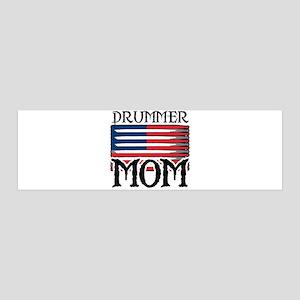Drummer Mom USA Flag Drum 36x11 Wall Peel
