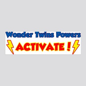 Wonder Twins Powers Activate! 36x11 Wall Peel