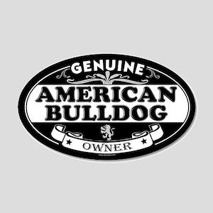 AMERICAN BULLDOG 20x12 Oval Wall Peel