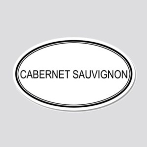 CABERNET SAUVIGNON (oval) 20x12 Oval Wall Peel