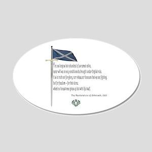 Declaration Of Arbroath 20x12 Oval Wall Peel