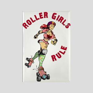 Roller Girls Rectangle Magnet