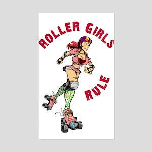 Roller Girls Rectangle Sticker