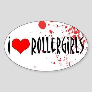 Roller Girls Oval Sticker