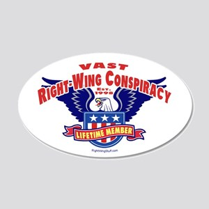 Vast Right-Wing Conspiracy 20x12 Oval Wall Peel
