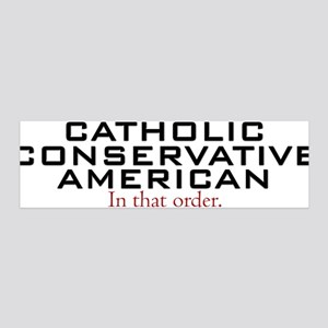 Catholic Conservative American 36x11 Wall Peel