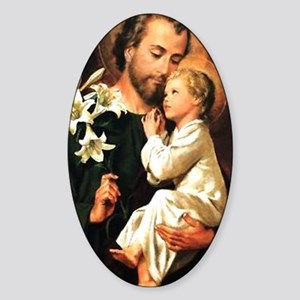 Saint Joseph Oval Sticker
