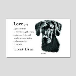 Great Dane (Black) Gifts 20x12 Wall Peel