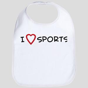 I Love Sports Bib