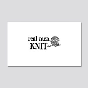 Real Men Knit 20x12 Wall Peel