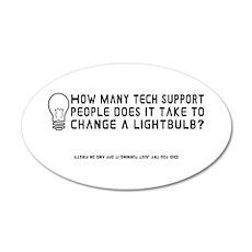 Tech Support 20x12 Oval Wall Peel