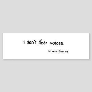 Voices Bumper Sticker