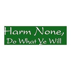 Harm None, Do What Ye Will - 36x11 Wall Peel