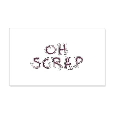 Oh Scrap 20x12 Wall Peel