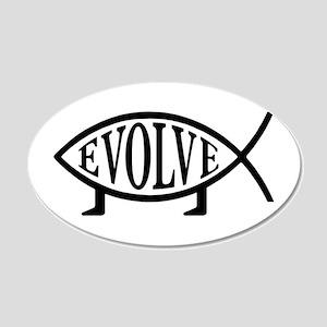 Evolution Fish 20x12 Oval Wall Peel