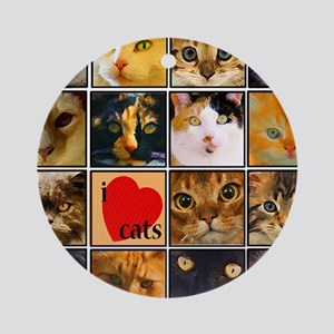 Cat Lady Loves kittens Ornament (Round)