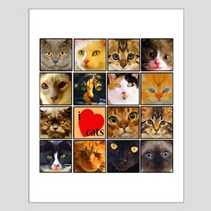 Cat Lady Loves kittens Small Poster