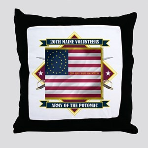 20th Maine V.I. Throw Pillow