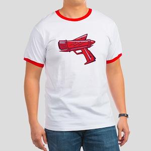Red Toy Ray Gun Ringer T