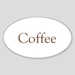 Coffee Sticker (Oval)