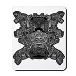 Black & White Skull Mousepad