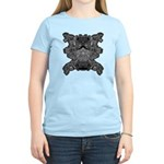 Black & White Skull Women's Light T-Shirt