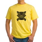 Black & White Skull Yellow T-Shirt