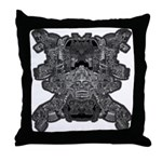 Black & White Skull Throw Pillow