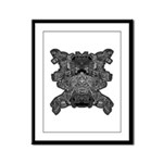 Black & White Skull Framed Panel Print