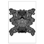 Black & White Skull Large Poster
