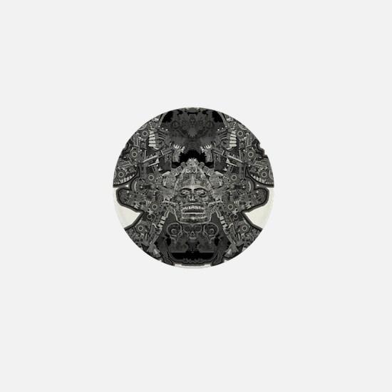 Black & White Skull Mini Button