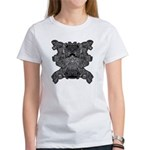Black & White Skull Women's T-Shirt