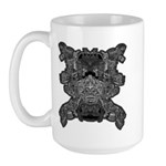 Black & White Skull Large Mug