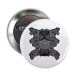 "Black & White Skull 2.25"" Button"