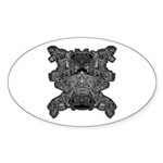 Black & White Skull Sticker (Oval 10 pk)
