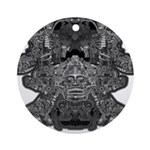 Black & White Skull Ornament (Round)