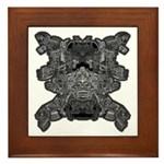 Black & White Skull Framed Tile