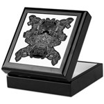 Black & White Skull Keepsake Box