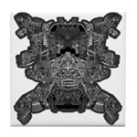 Black & White Skull Tile Coaster