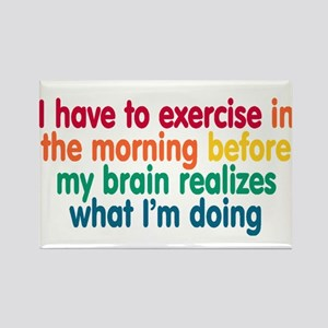 Early Morning Exercise Rectangle Magnet