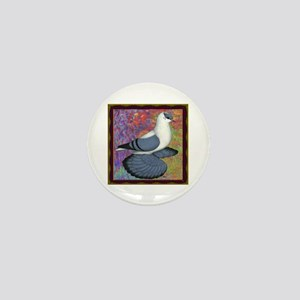 Swallow Pigeon Framed Mini Button