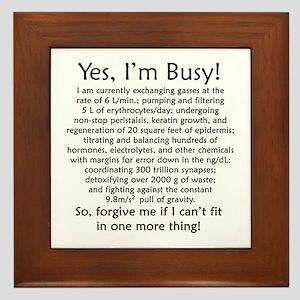 Yes, I'm Busy! Framed Tile