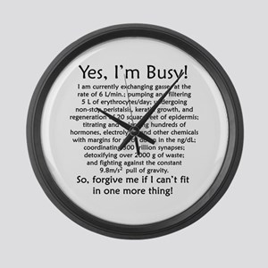 Yes, I'm Busy! Large Wall Clock