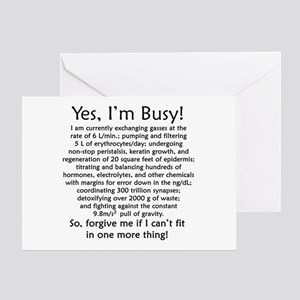 Yes, I'm Busy! Greeting Card