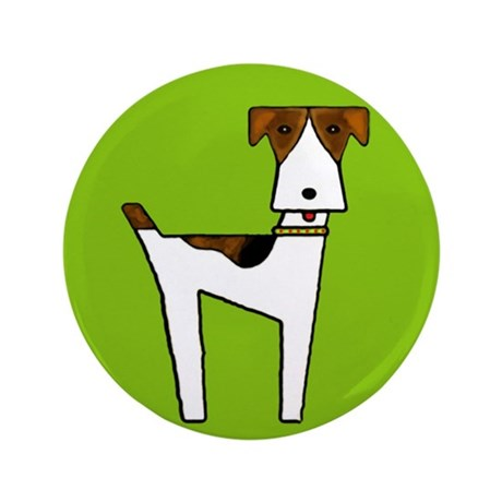 "graphic terrier (green) 3.5"" Button (100 pack)"